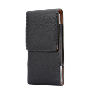 Leather Bag Case Men Waist From 4.0'' To 6.3'' For All Smart Phones