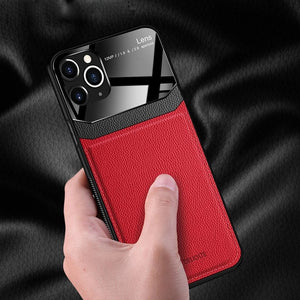 Leather Mirror PlexiGlass Case for iPhone 11 Pro Max XS XR XS Max