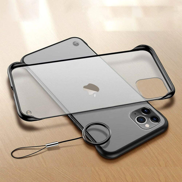 Frameless Design With Ring Phone Case For iPhone 12 & 11 Series