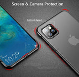 Luxury Frameless Ring Design Matte Hard PC Solid Back Cover Case For iPhone 12 & 11 Series