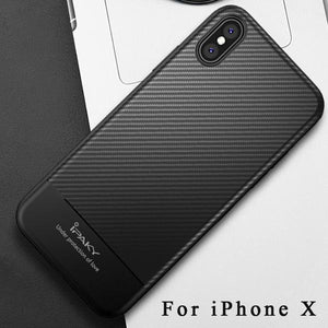 Carbon Fiber Skin Case For iPhone X XS XR Max