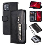 PU Leather Zipper Card Slot Flip Wallet Case For iPhone 11 Pro Max X XS MAX