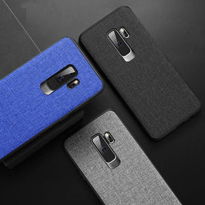 Fabric Leather Case For Samsung Galaxy S8 S9 Plus Note 9 8