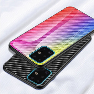 Carbon Fiber Glass Shockproof Case for Samsung Galaxy S20 Series