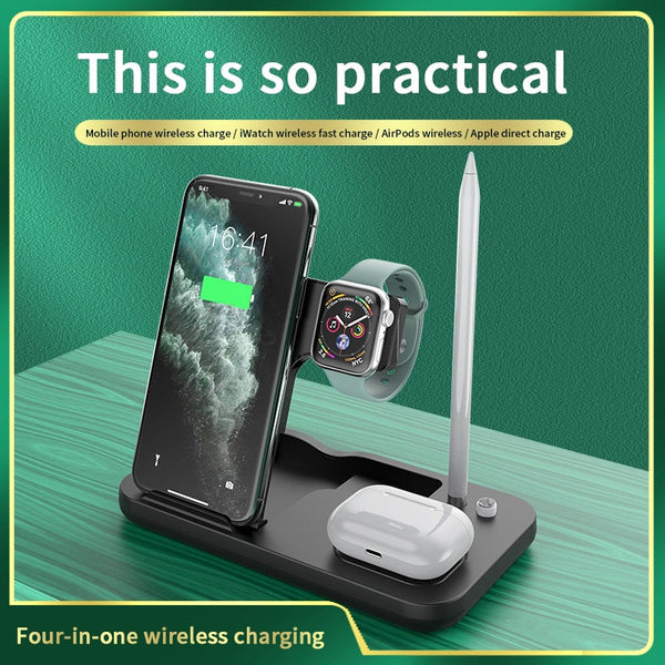 3 in 1 Wireless Charger 15W For Apple Watch Headset Mobile Phone Multifunctional Folding Stand