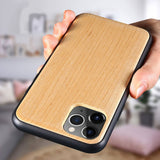 Natural Wood Soft TPU Anti-knock Case For iPhone 11 Pro Max 7 XR XS MAX