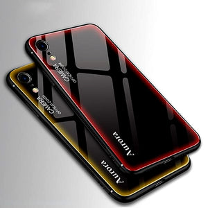 2019 Tempered Glass Phone Case For iphone XS MAX XR X 8 7 6 6s Plus