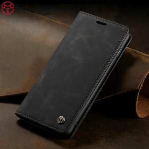 Luxury Retro Magnetic Leather Case For iPhone X XS Max XR 8 7 6s Plus