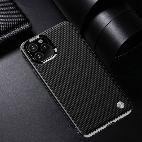 Luxury Silicone Soft Cover Shockproof Anti-collision Stripes Case For iPhone 11 Pro XS MAX X XR