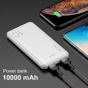 New Power Bank 10000mAh Portable Charger For iPhone Samsung Xiaomi