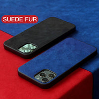 Luxury Business Soft Suede Fur Leather Plush Protective Case for iPhone 12 mini