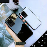 Tempered Glass Case with Soft Frame Shockproof Back Cover For Samsung S20 Series
