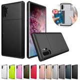 Slide Armor Wallet Card Slot Shockproof Cover For Samsung Note 10+ S10 S9 S8 Plus S10E