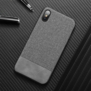 Fabric Cloth Soft Silicone Phone Cases For iPhone X XS Max XR 8 7 6 Plus