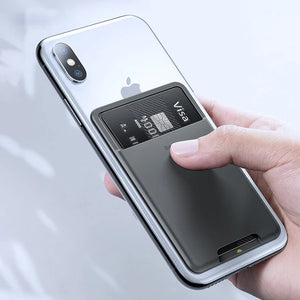 3M Sticker Back Slot Card Wallet Case For iPhone X XS XS Max XR