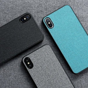 Fabric Leather Case For iPhone X XS Max XR