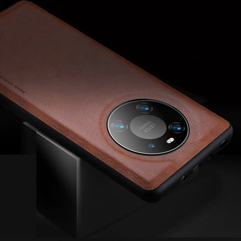 Soft Silicone Edge Shockproof Leather Case For Huawei Mate 40 1