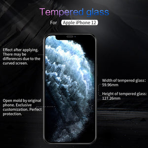 Tempered Glass 9H Anti Explosion Screen Protector Glass Film For iPhone 12 Series
