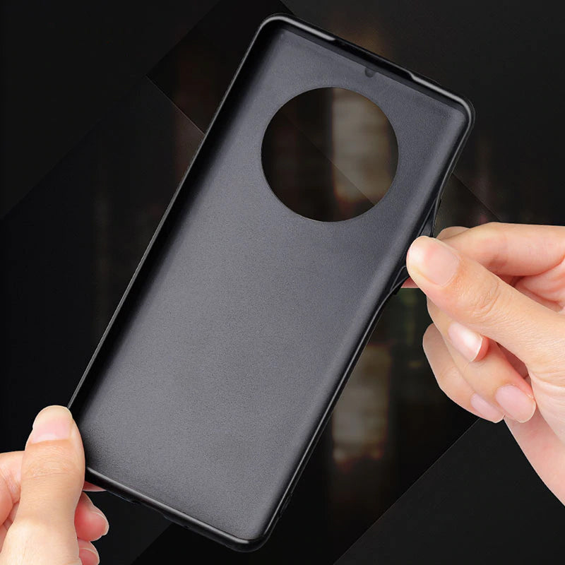Soft Silicone Edge Shockproof Leather Case For Huawei Mate 40 2
