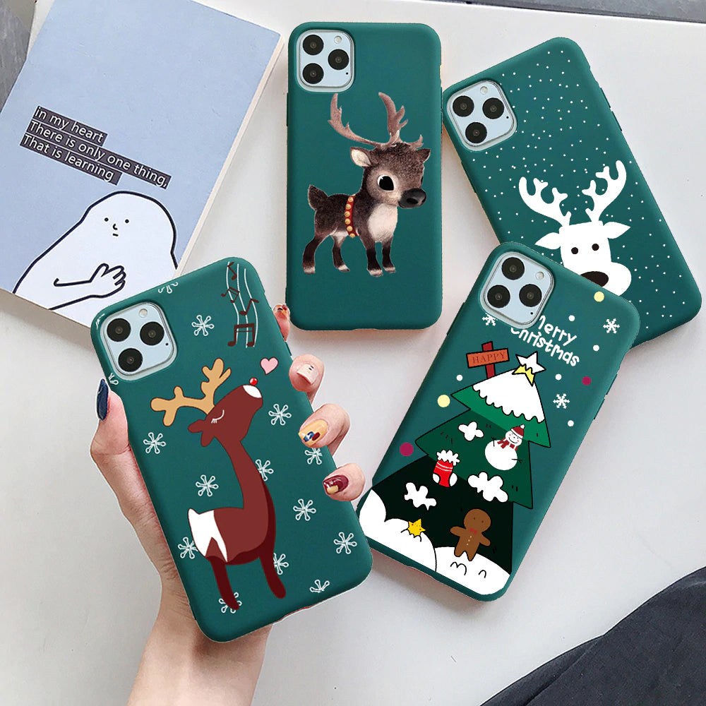 Cute Cartoon Soft TPU Christmas Phone Case For iPhone 12 Pro Max