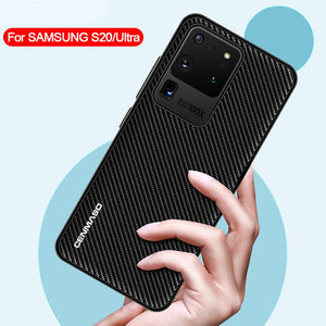 Capa For Samsung Galaxy Note 20 Ultra Back Case For Samsung Note 20 Ultra S20 A71 A51 4G Fashion Funda Carbon Fiber Texture Case