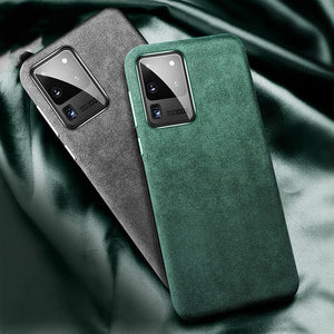 Alcantara Artificial Leather Full Protection Business Case for Galaxy S20 Series