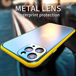 Full Cover Back Camera Lens Metal Ring Protector Shockproof Clear Case For iPhone 11