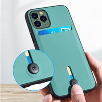 Fitted Wallet Card Holder Shockproof Bumper Cover For iPhone 11 Series