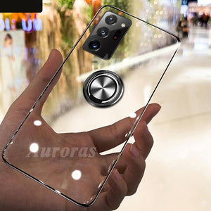 Anti-fall Clear Case Shockproof With Ring Soft Cover For Samsung Galaxy Note 20 Series
