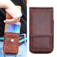 Vertical Pouch Waist Bag FLip Leather Case for Xiaomi Redmi Note Series