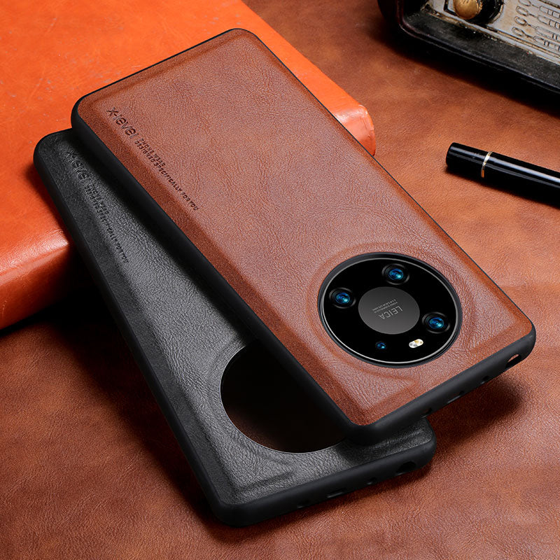 Soft Silicone Edge Shockproof Leather Case For Huawei Mate 40 Pro
