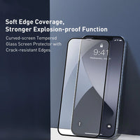 2Pcs Tempered Glass Full Cover Screen Protector Glass Film For iPhone 12 Pro Max | iPhone 12 Pro | iPhone 12 Mini | iPhone 12