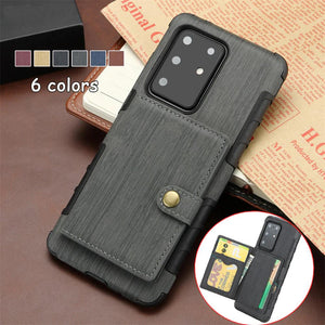 Multi Card Holder Leather Protective Case For Samsung Galaxy S20 Series