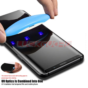 Full Glue Curved UV Liquid Tempered Glass Screen Protector For Samsung Galaxy S20 Series