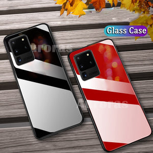 Tempered Glass Case For Samsung Galaxy S20 S20 Plus S20 Ultra