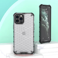Transparent Shockproof Half Clear Honeycomb Phone Case for iPhone 12 Series