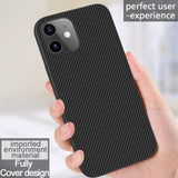 Synthetic Fiber Hard Back Cover Luxury Slim Case For iPhone 12 Series