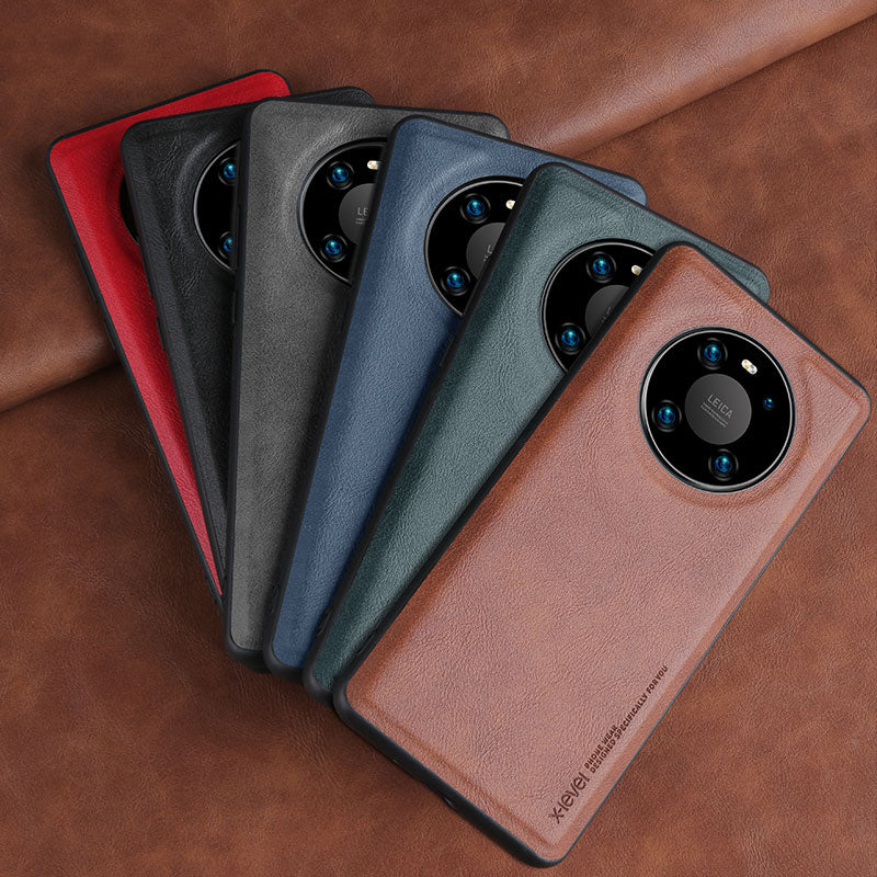 Soft Silicone Edge Shockproof Leather Case For Huawei Mate 40