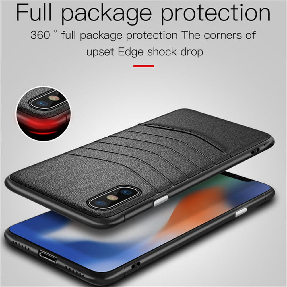 2019 Best Design Ultra Thin PU Leather Phone Case For iPhone X XS Max XR 7  8 Plus