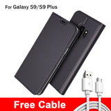 Wallet Case For Samsung Galaxy S9 S9 Plus + 1 Free Cable