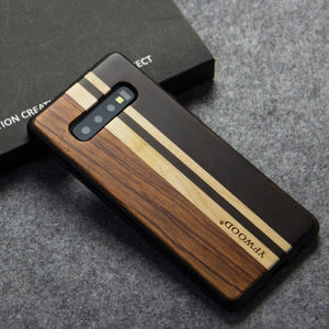 Shockproof Funda Natural Wooden Phone Case for Samsung Galaxy S10 S10 Plus S10e