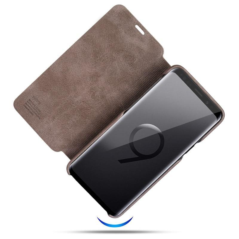 promo code c7042 78905 Ultra Thin Leather Case For Galaxy Note 9 S8 Plus S9 S9 Plus