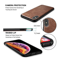 High Level Luxury Vintage Leather Business Style case For iPhone X XS Max XR 11 Pro Max