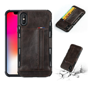 Leather Cases For iPhone X 8 7 6 Plus Multi Card Holders