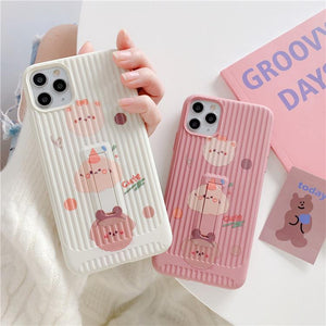 Cute Animal High-quality Soft Silicone Waterproof Case For iPhone 11 Series
