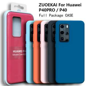 High Quality Soft Touch Silky Silicone Protective Case FOR HUAWEI P40 Series