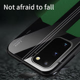 Luxury Leather Silicone Shockproof Case For Samsung Galaxy S20 Series