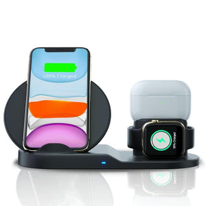 3 IN 1 QI Wireless Charger for iPhone 11 Series & Apple Watch