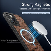 Leather Shockproof MagSafe Wireless Charging Case For iPhone 12 Series