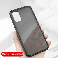 Translucent Soft Edge Matte Hard Plastic Back Cover Shockproof Case For Galaxy Note 20 S20 Series